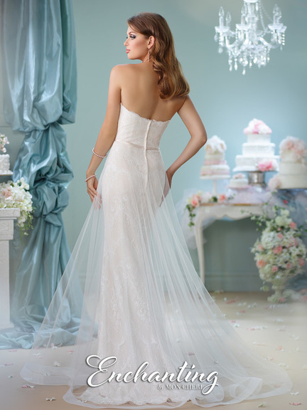 lovely combination of mermaid and A-line dress, lace mermaid base with tulle over dress, strap-less, heart-shape neckline, wedding dress